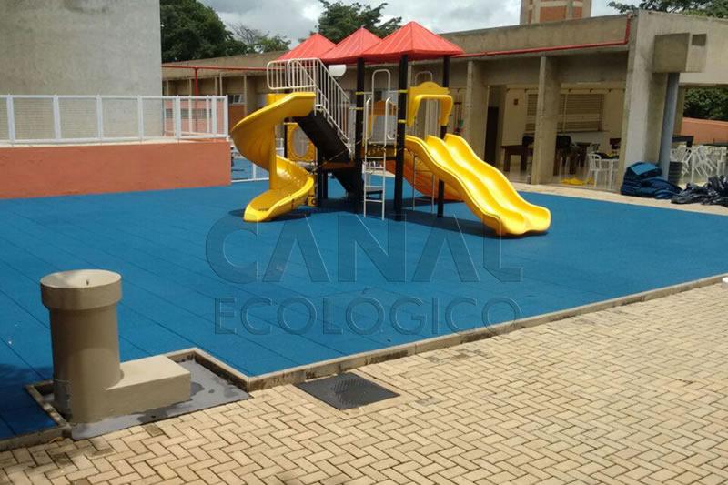 Piso Parque Infantil Externo emborrachado ecológico