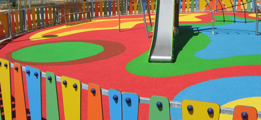 Piso Emborrachado Playground Monolítico