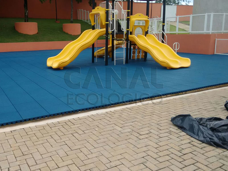 Piso Parque Infantil Externo azul